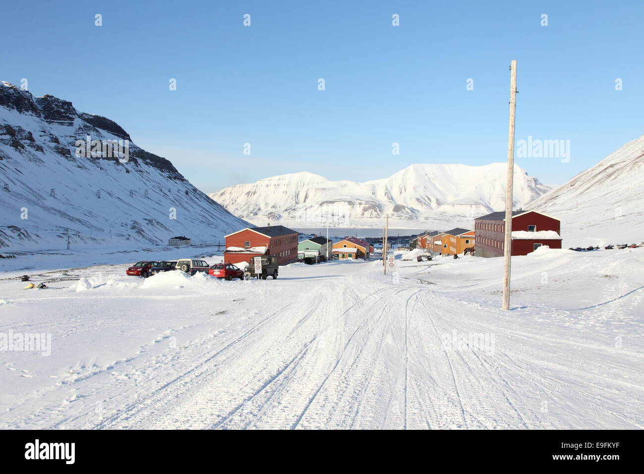 Longyearbyen, Svalbard - Stock Image
