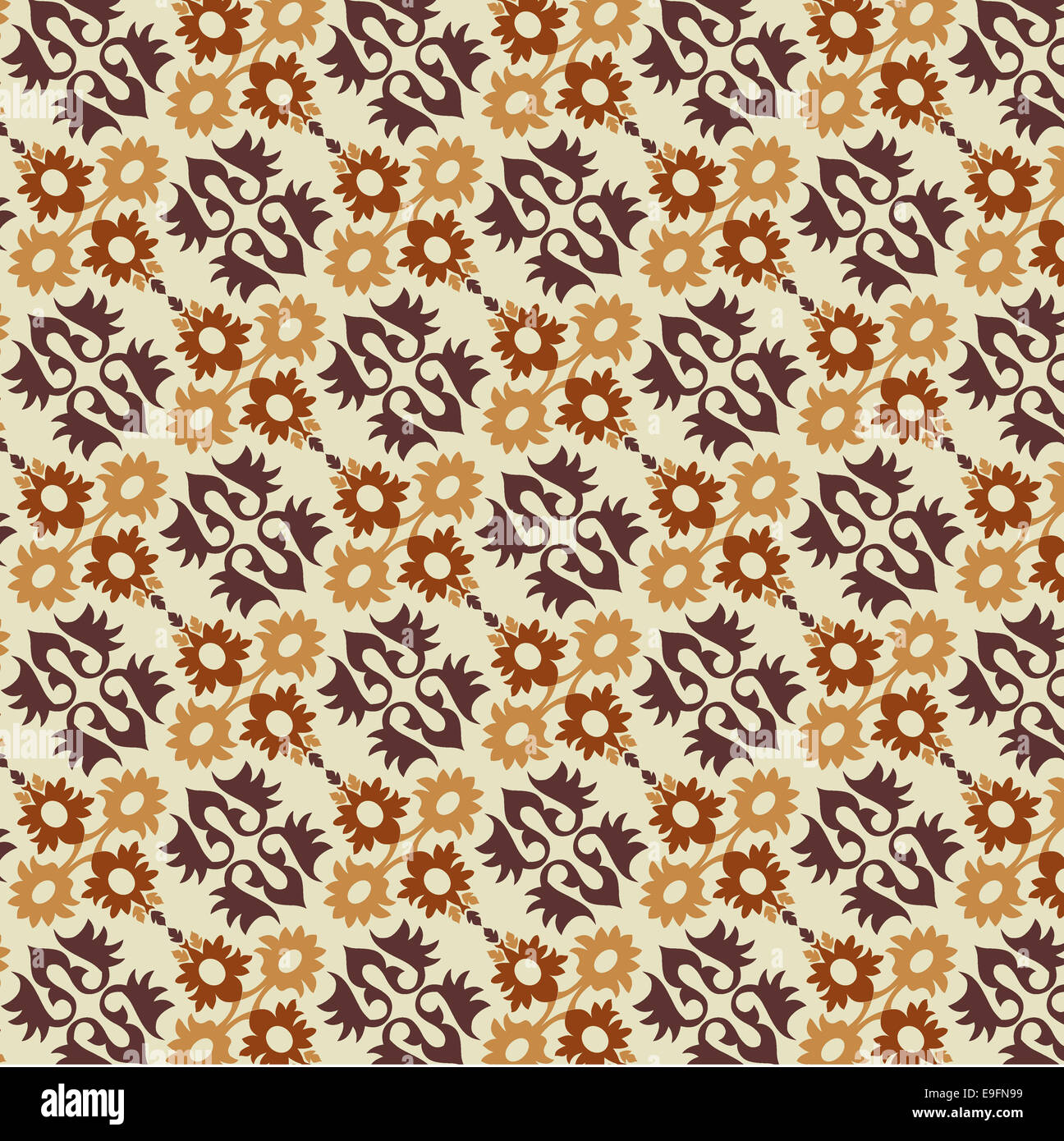ottoman seamless pattern version - Stock Image