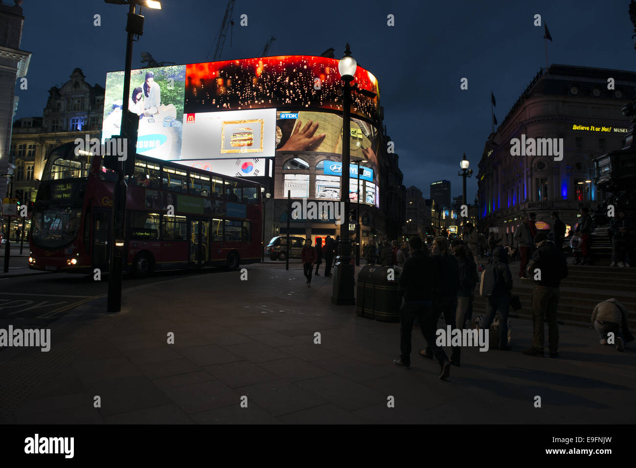 Picadilly Circus in London - Stock Image