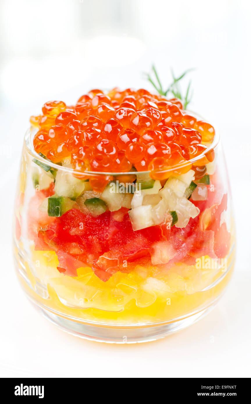 Red caviar - Stock Image