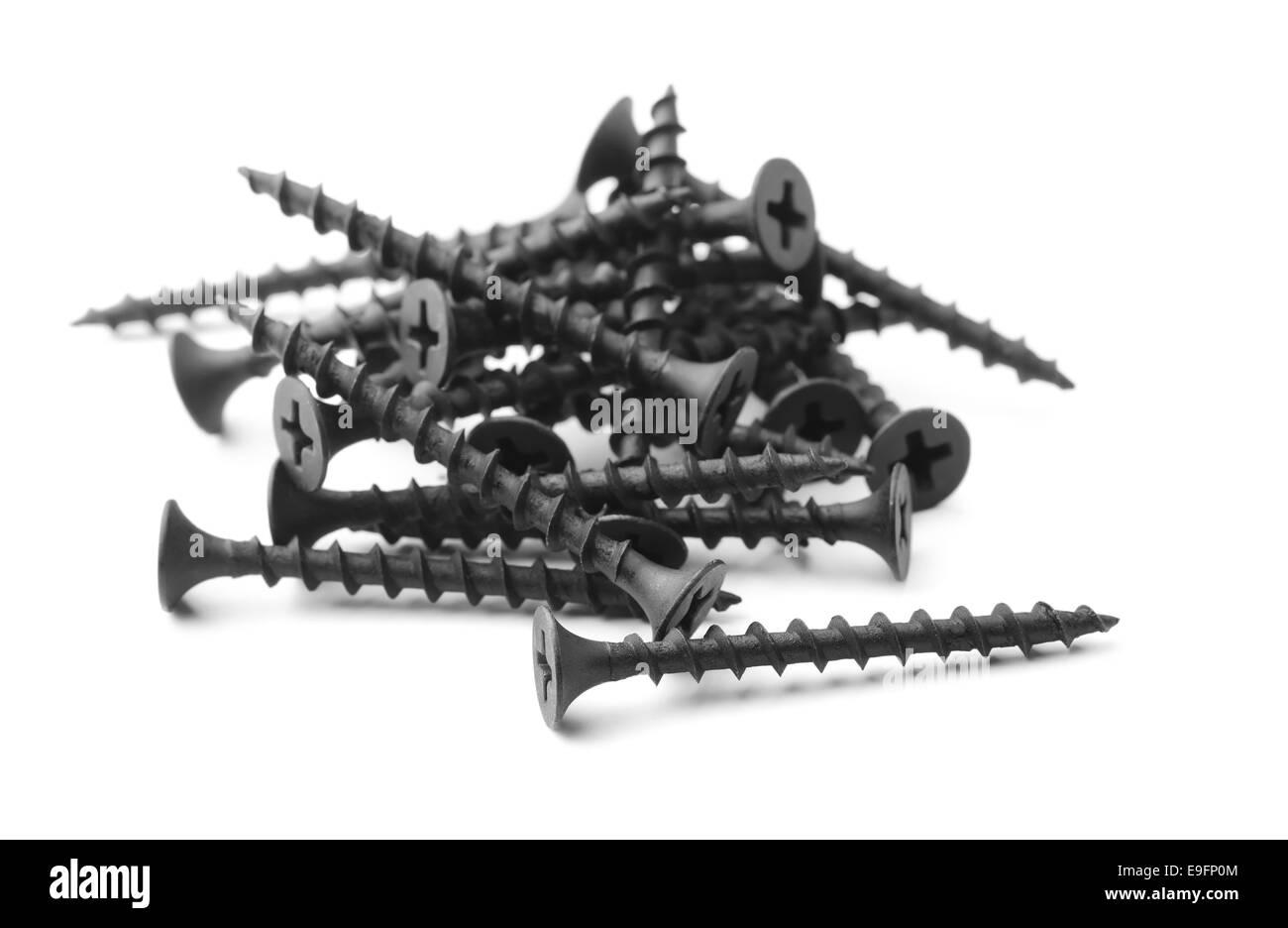 Drywall screws - Stock Image