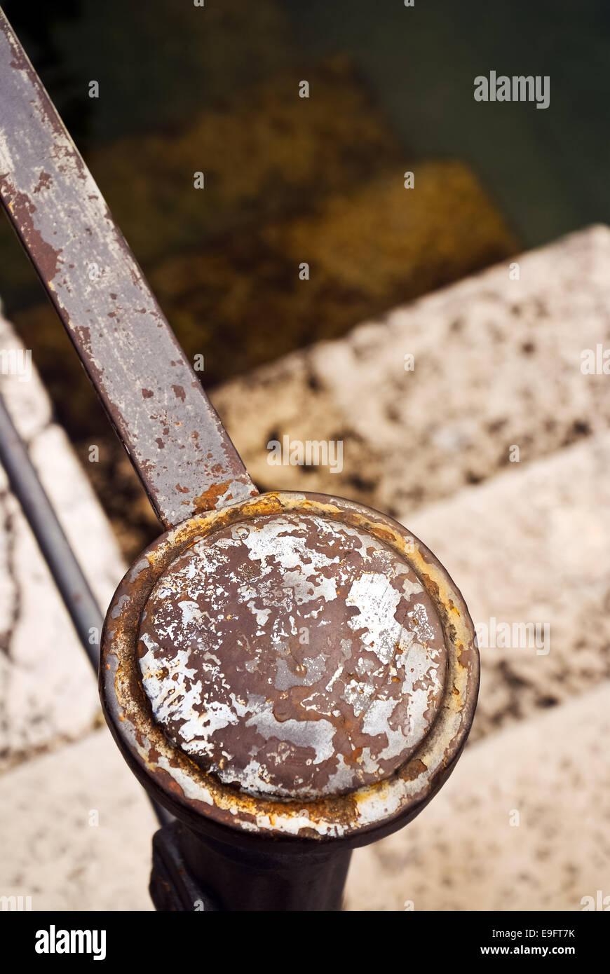 Iron railing - Stock Image
