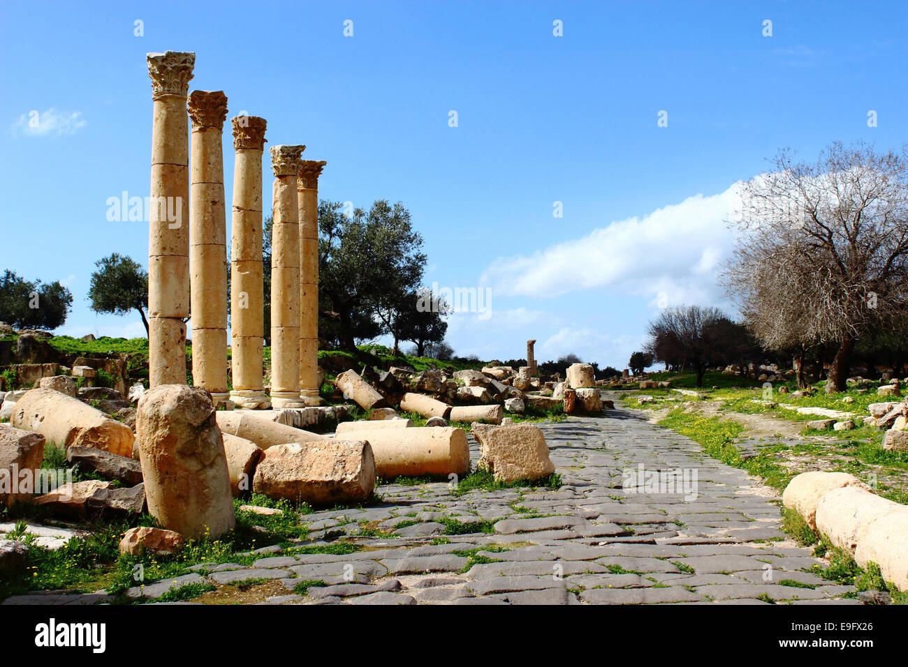 Umm Qais City - Stock Image