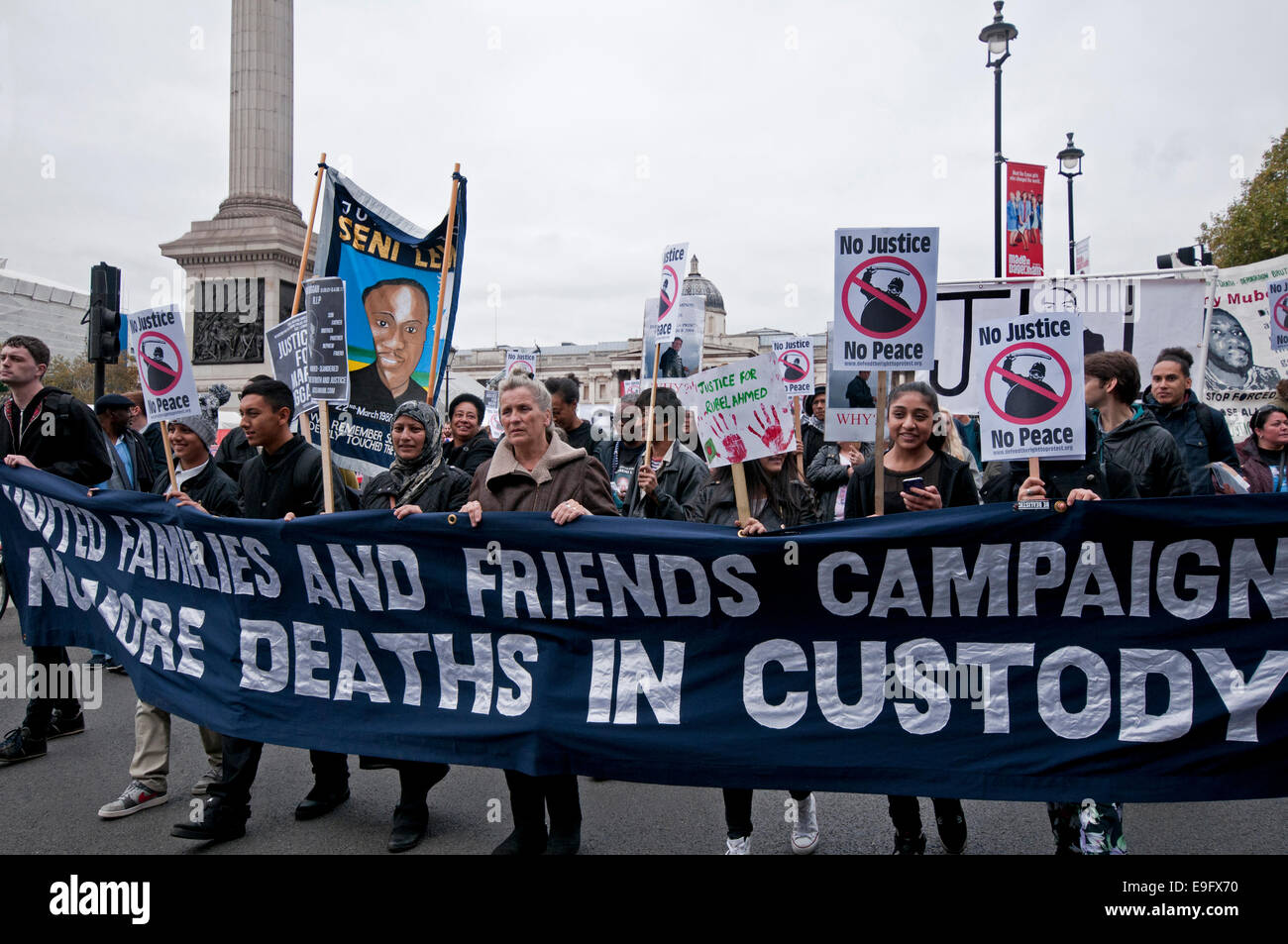 Annual Rally and campaign against Deaths in Custody held by United Families and Friends - Stock Image