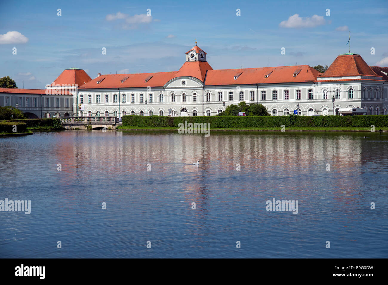 The right wing of the Nymphenburg Palace,  Munich,  München, capital state of Bavaria, Germany, Europe - Stock Image