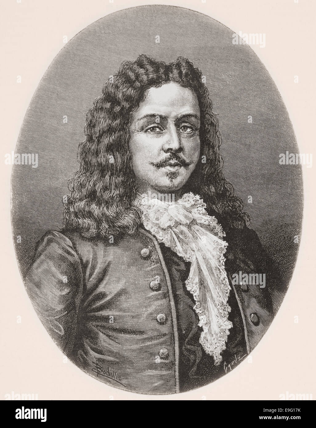 Bruno Mauricio de Zabala, 1682–1736.  Spanish soldier and colonial administrator.  Founder of Montevideo, Uruguay. - Stock Image