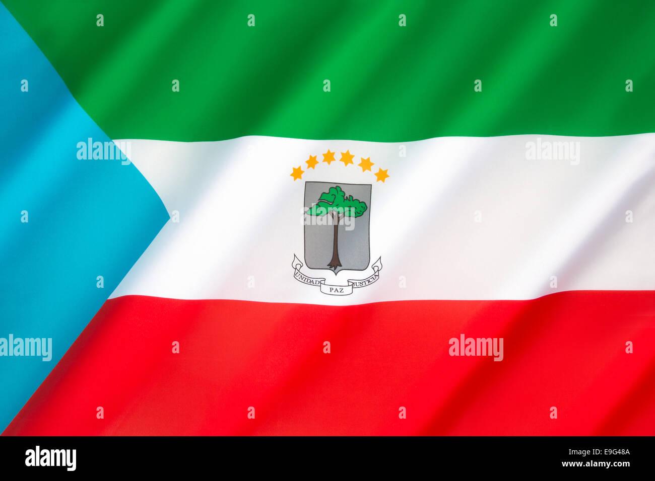 The flag of Equatorial Guinea - Stock Image