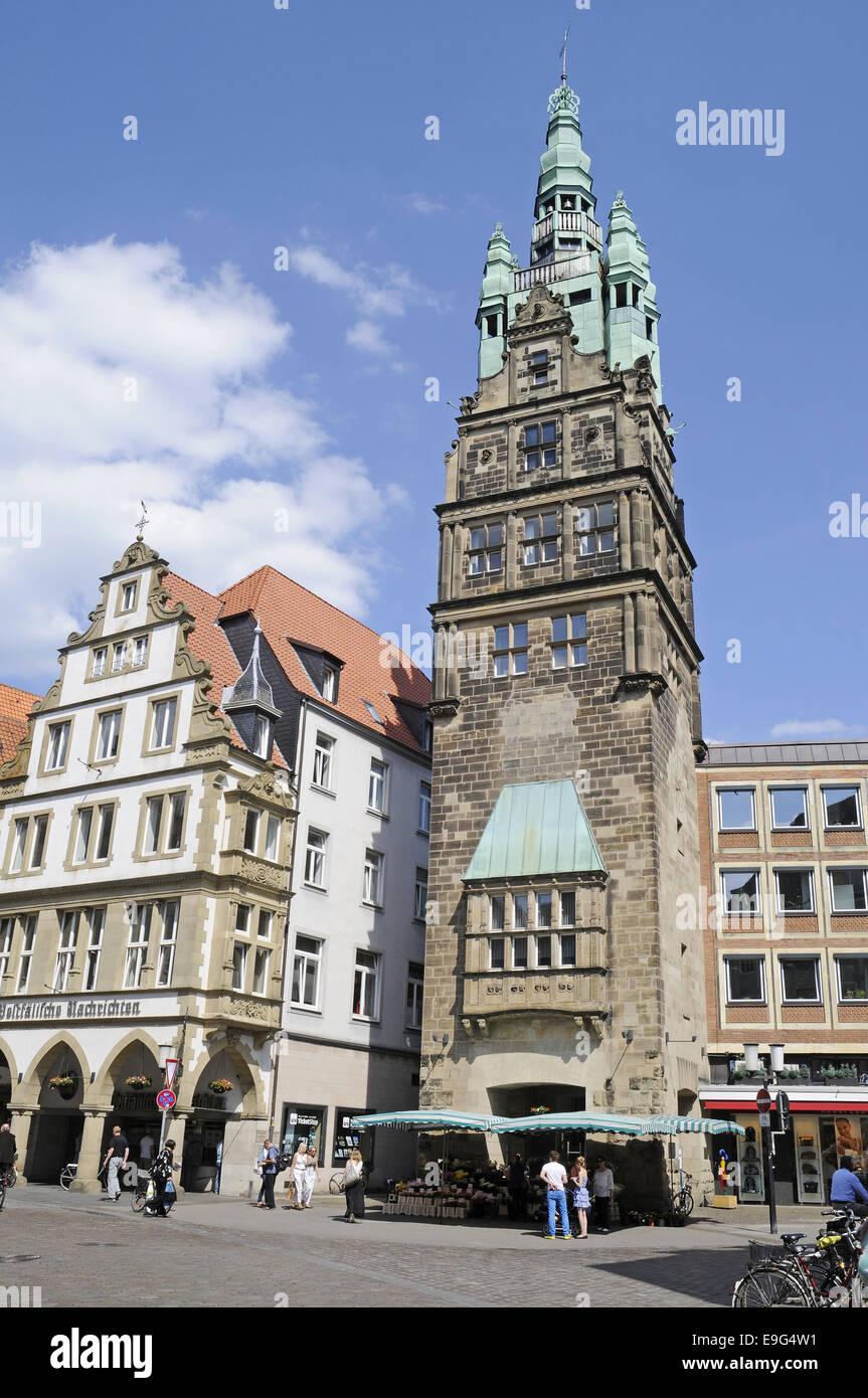 Prinzipal Market, Muenster, Germany Stock Photo