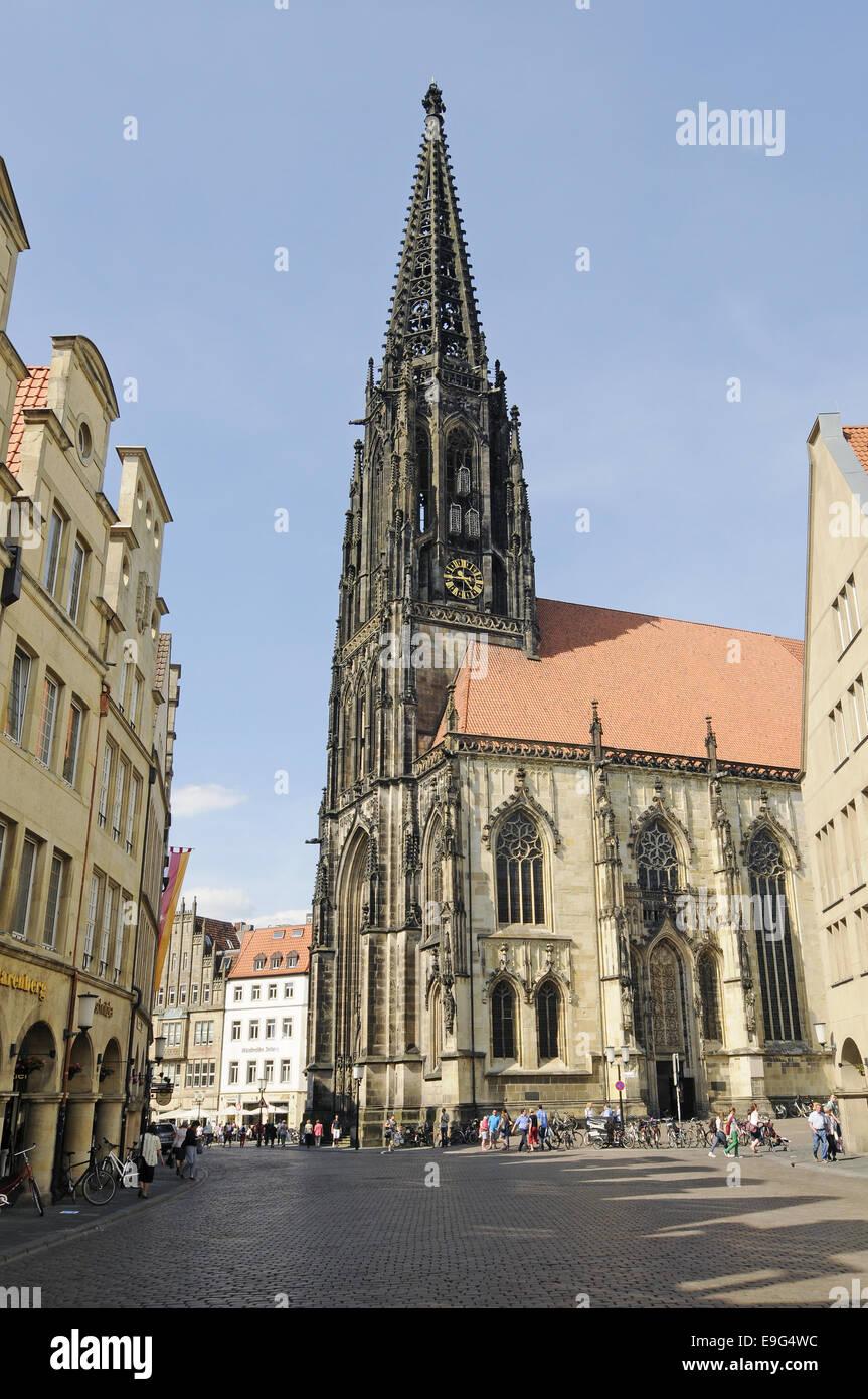 St Lamberti Church, Muenster, Germany Stock Photo