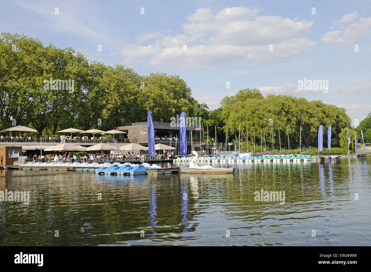 Aasee lake, Muenster, Germany Stock Photo