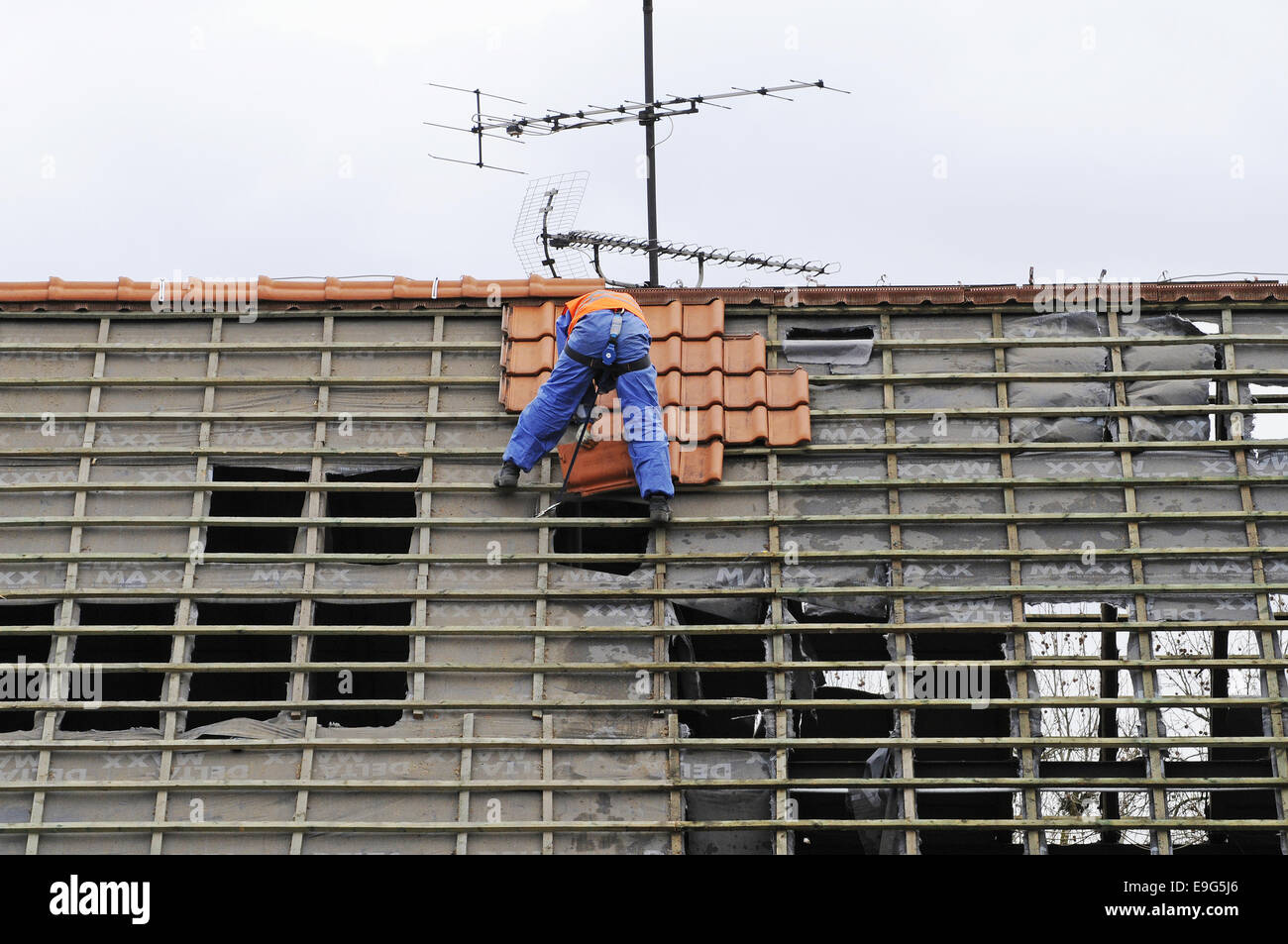 construction site, Dortmund, Germany - Stock Image
