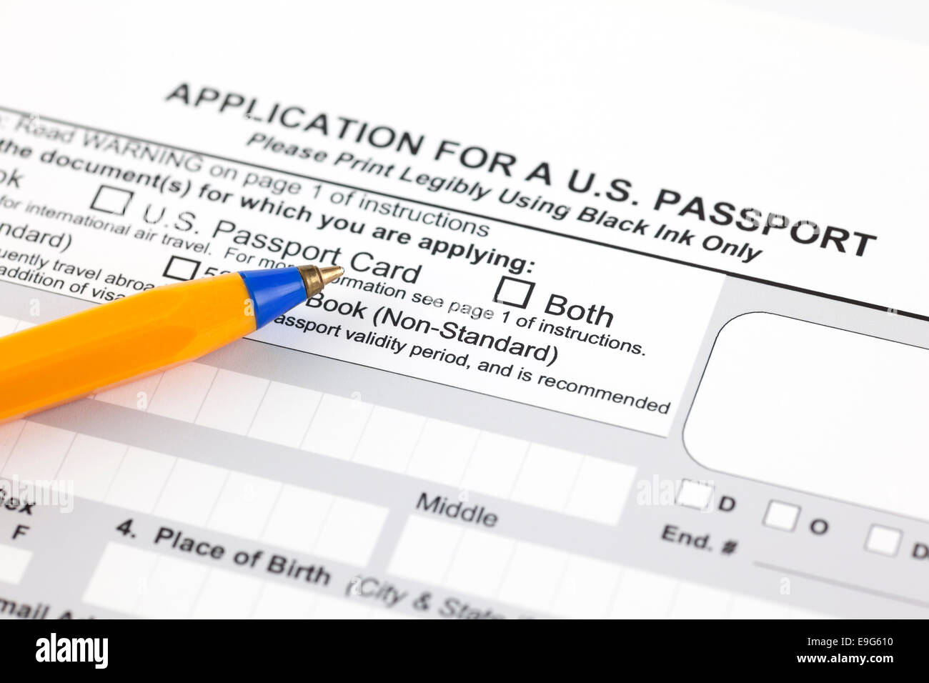 Diagram Of A U S Passport Example Electrical Wiring Modine Pah36af Pdf Stock Photos Images Alamy Rh Com United States Post Department