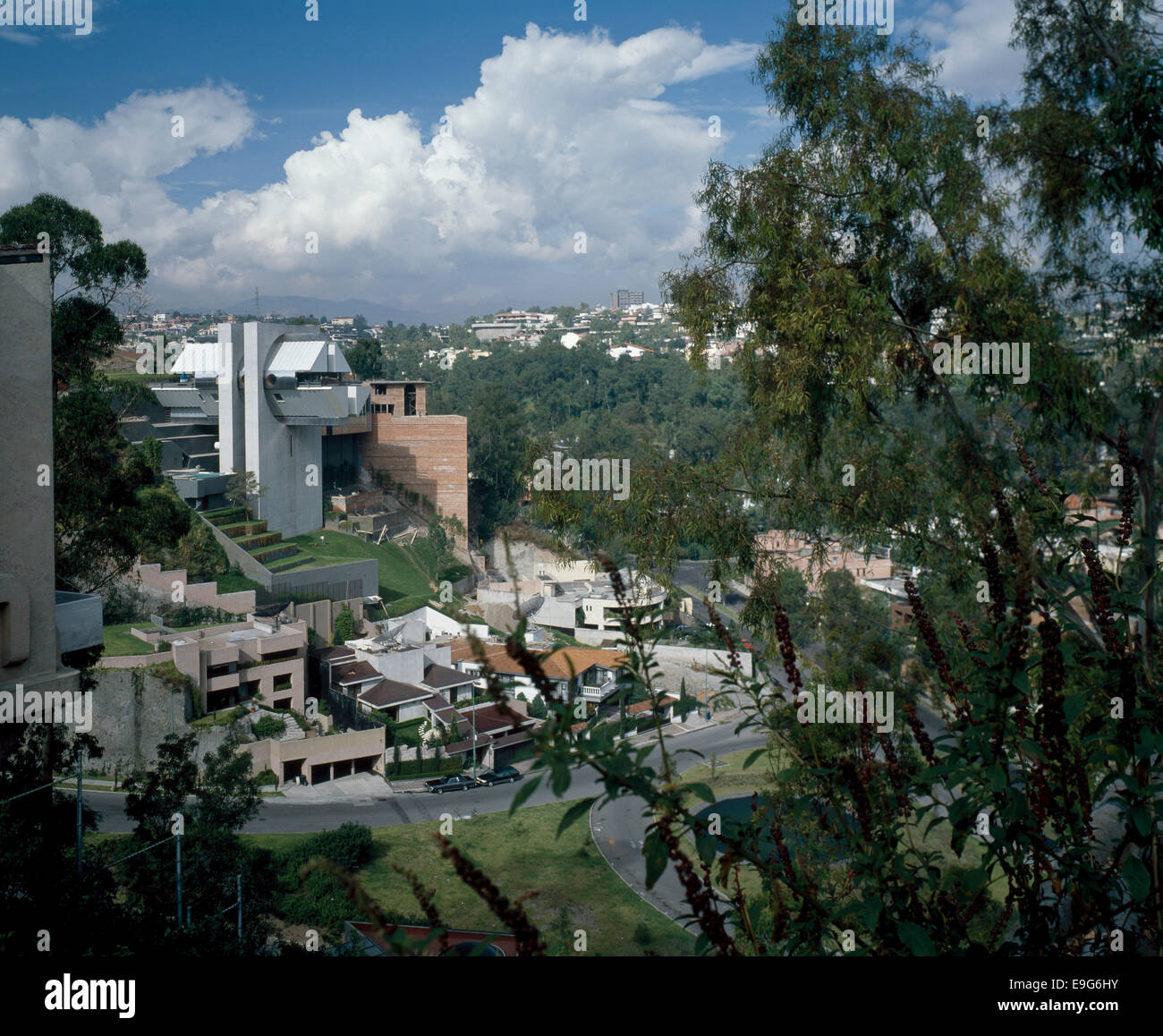Elevated View Of Hernandez House Bosques De Las Lomas Mexico Stock Photo Alamy