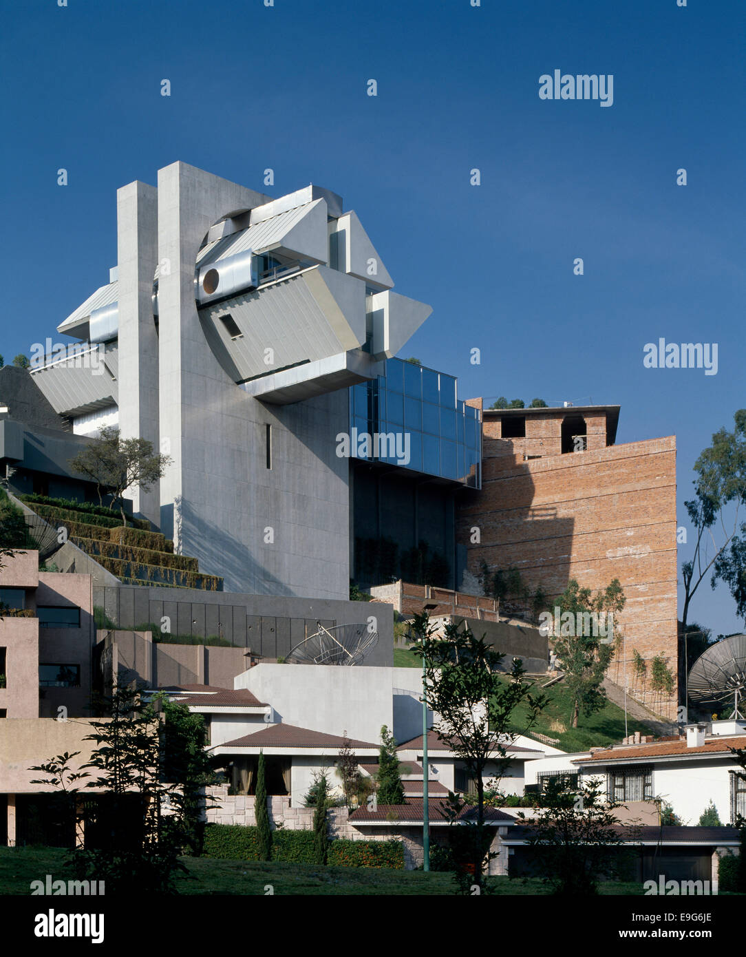 Exterior Facade Of Hernandez House Bosques De Las Lomas Mexico Stock Photo Alamy