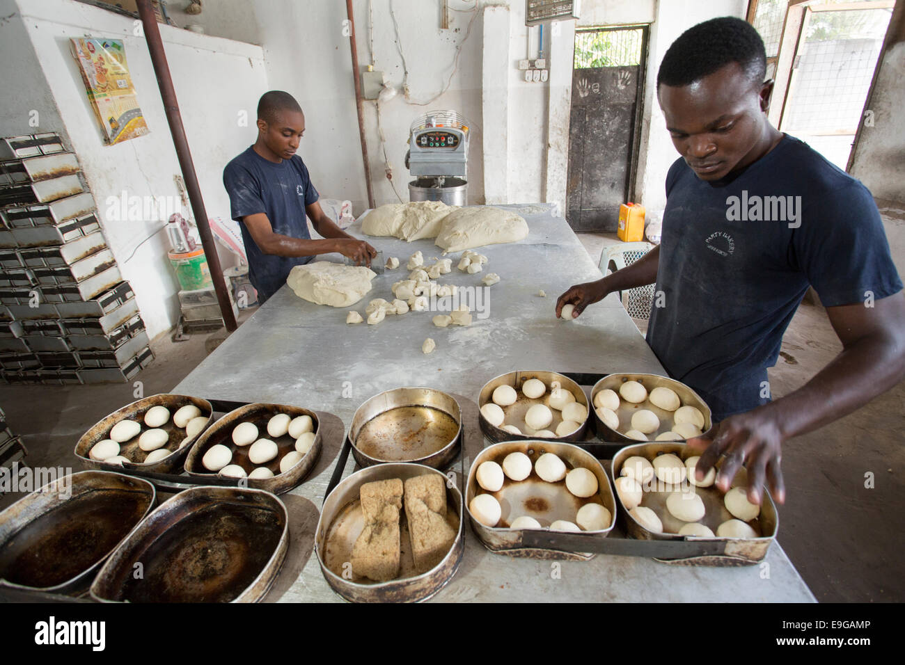 Commercial bakery in Dar es Salaam, Tanzania, East Africa. - Stock Image