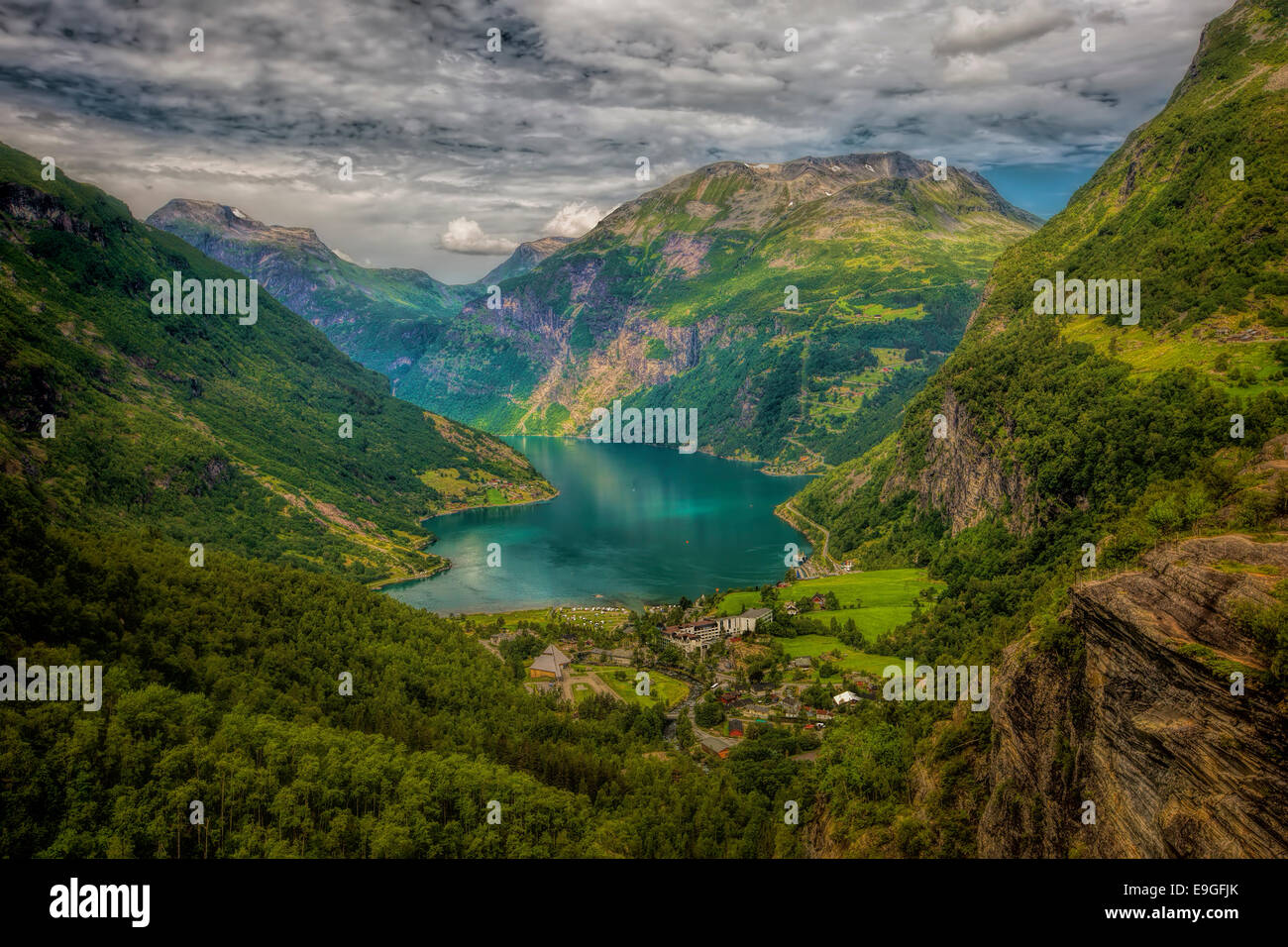 View of Geiranger - Stock Image