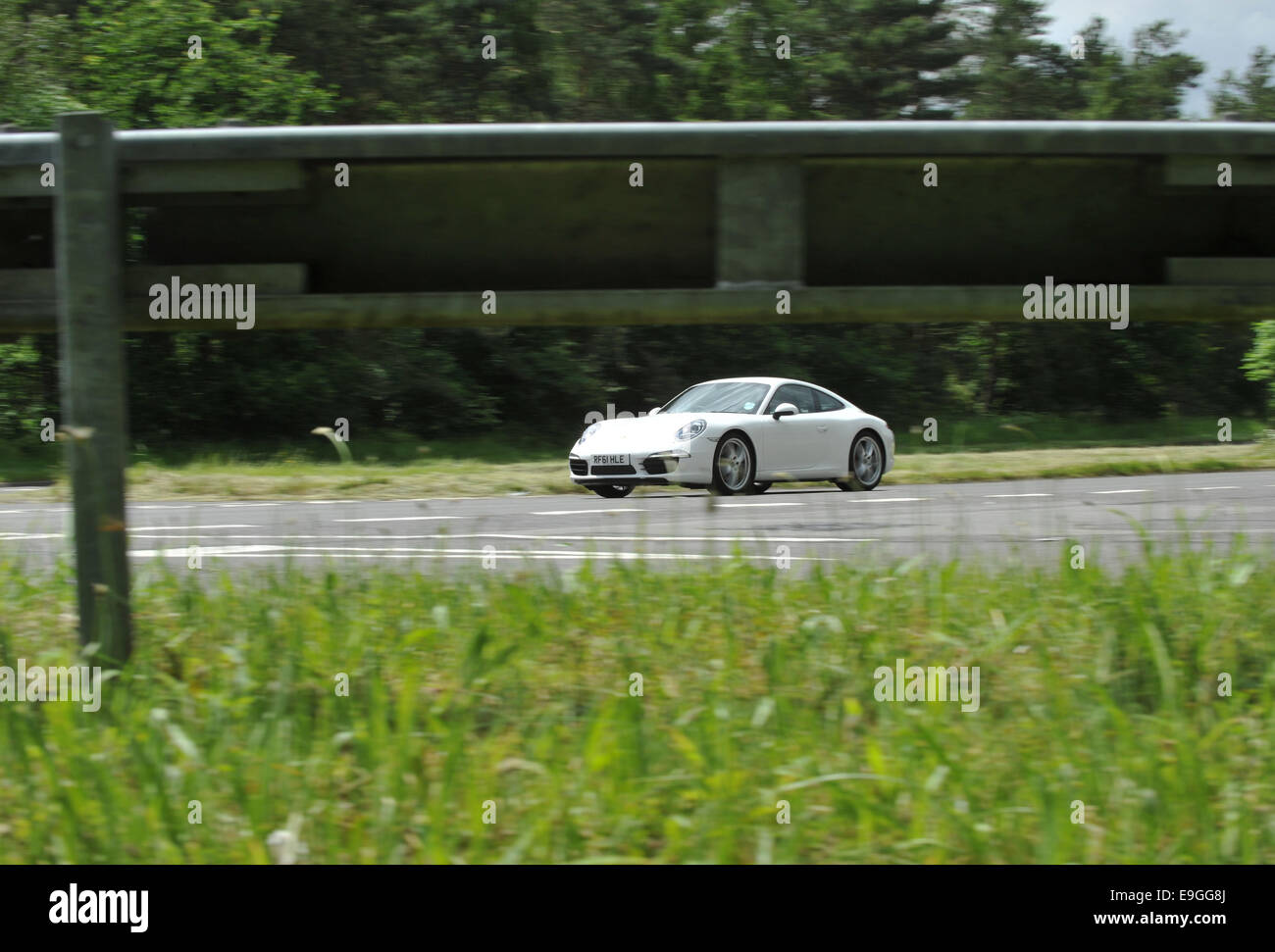 Porsche 911 rear engined German sports car - Stock Image