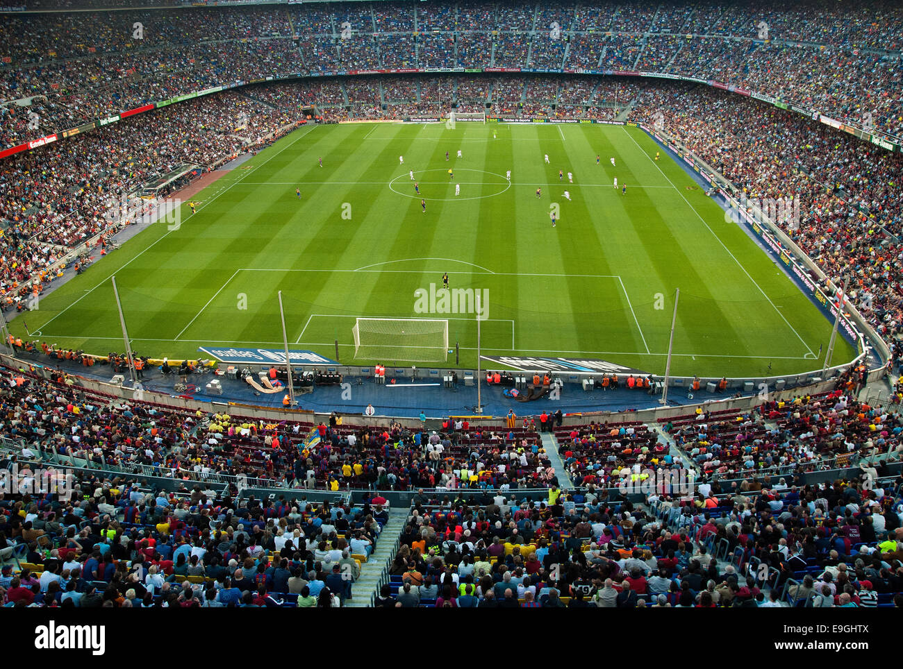 BARCELONA - MAY 23: Camp Nou Stadium on May 23, 2009 in Barcelona, Spain. - Stock Image