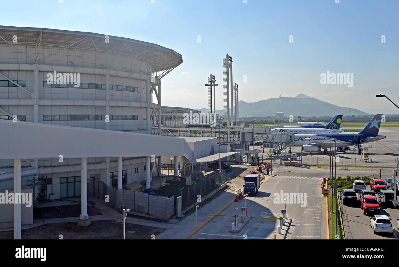 Arturo Merino Benitez international airport Pudahuel Santiago Chile - Stock Image