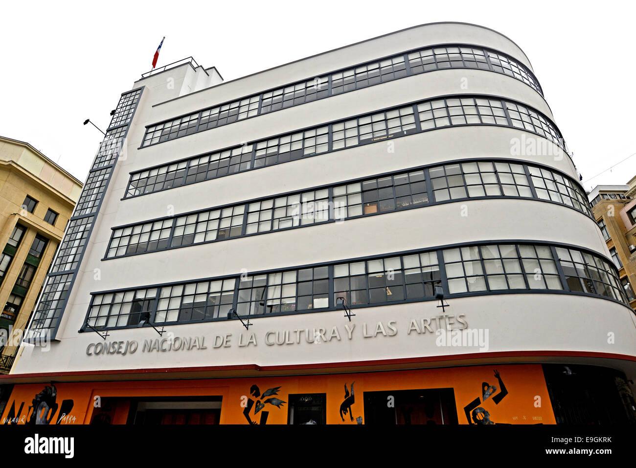 Consejo nacional de la cultura y las Artes Valparaiso Chile - Stock Image