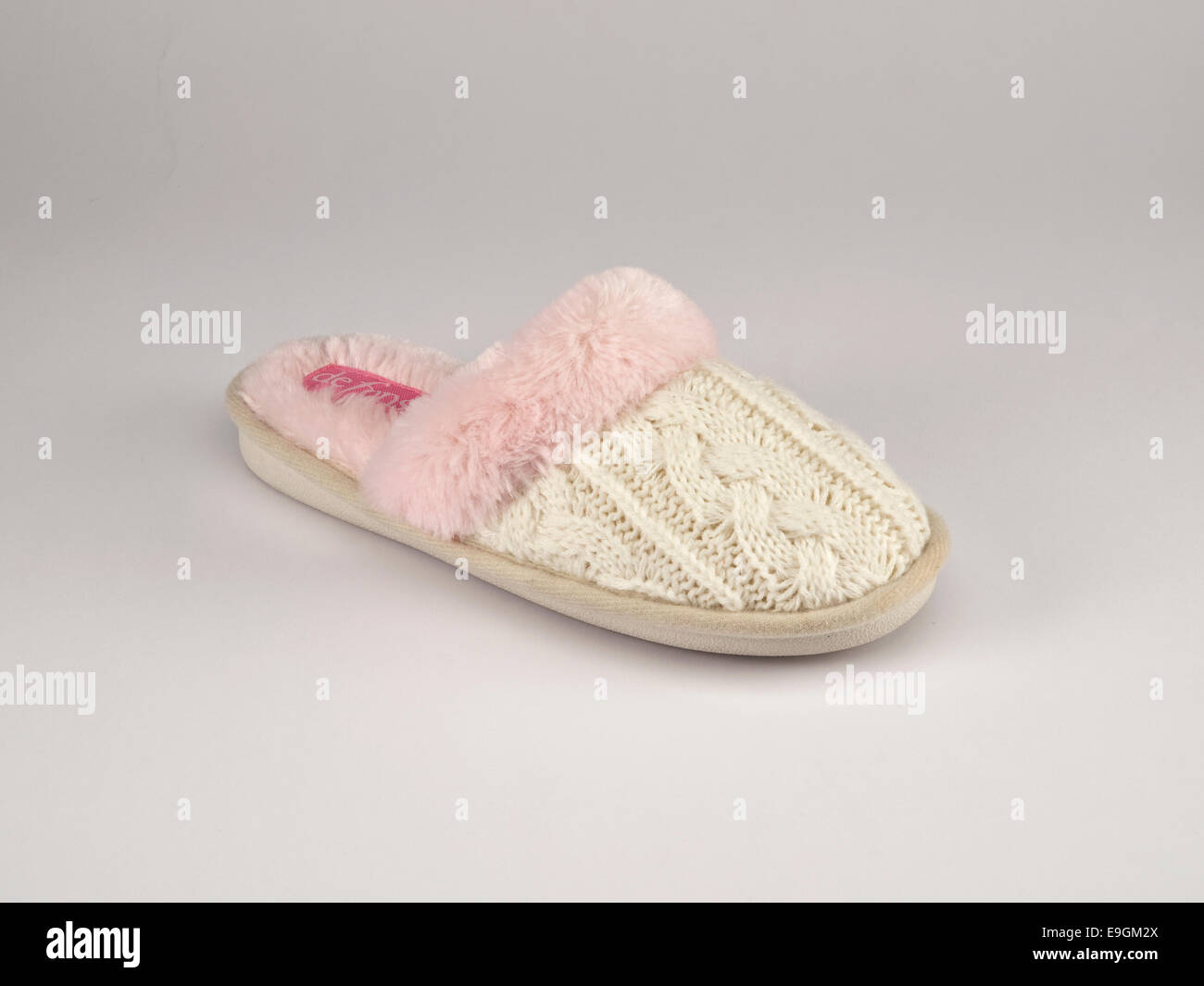 White woman's slipper - Stock Image