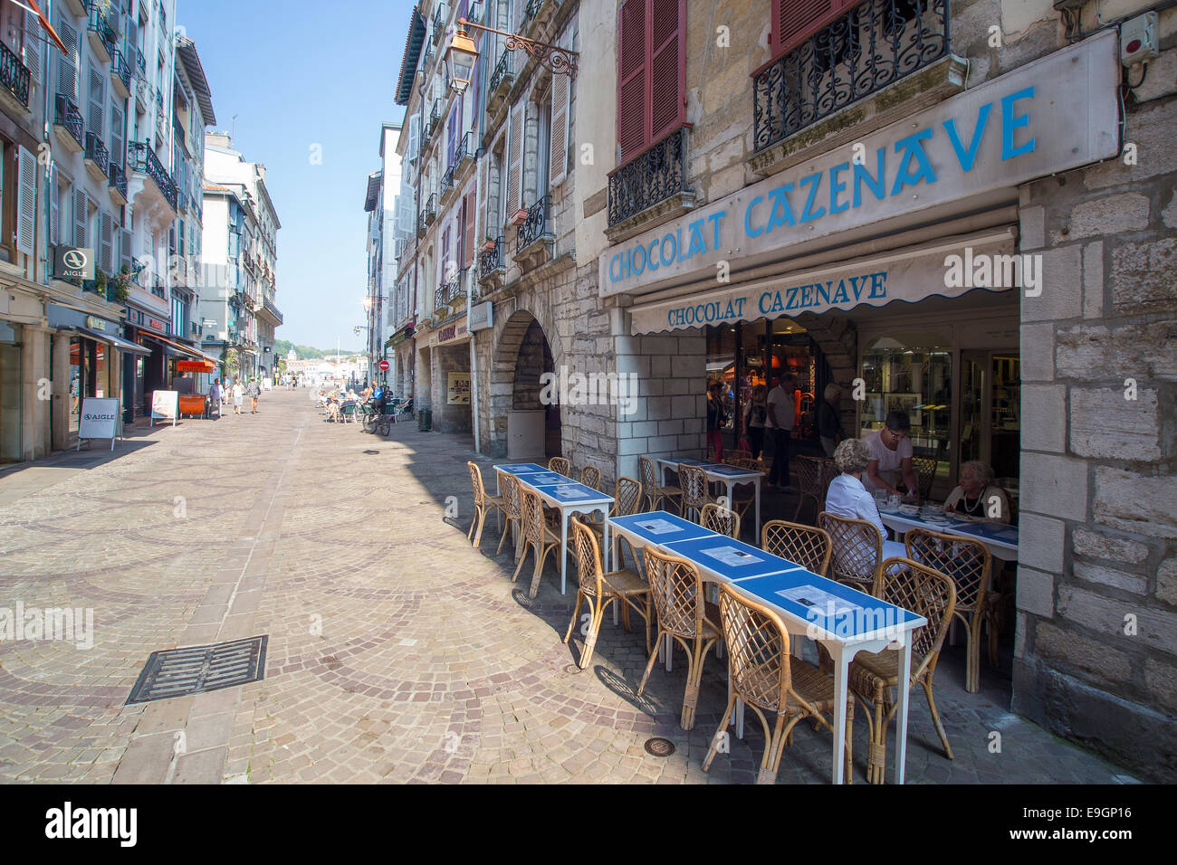 Centre of Bayonne France Basque country - Stock Image