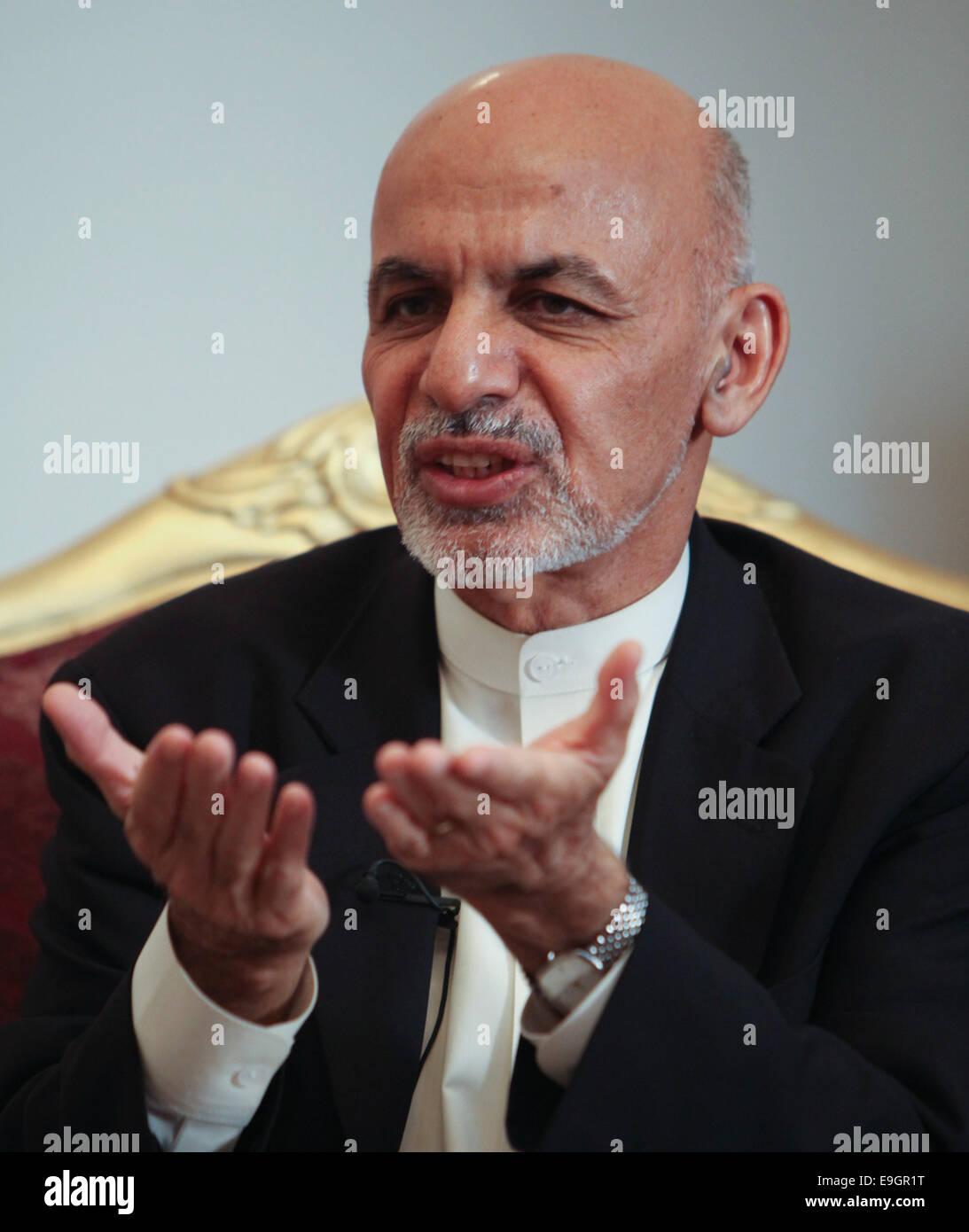 Kabul, Afghanistan  27th Oct, 2014  Afghan President Ashraf