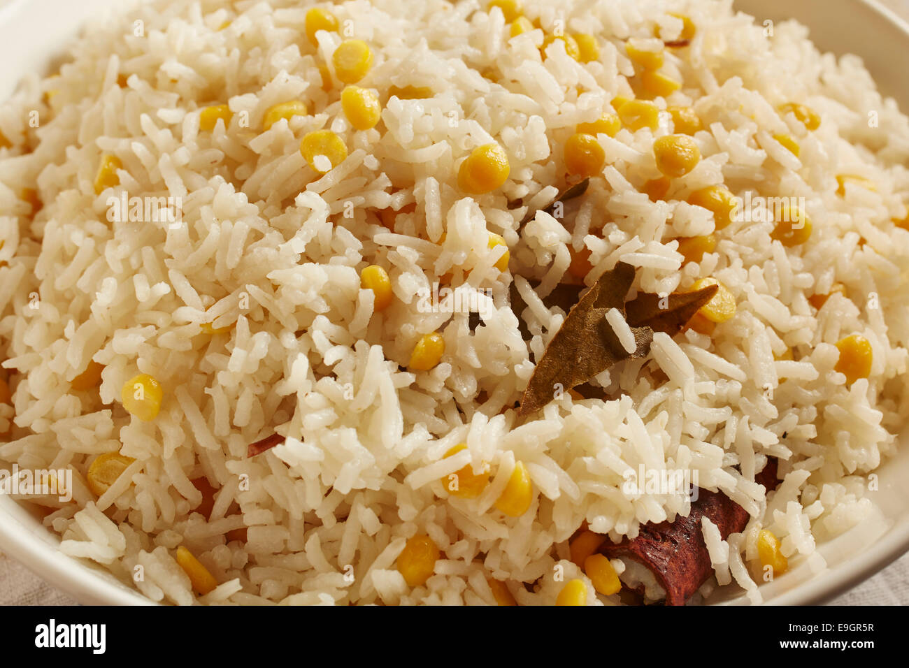 Burmese Style Rice and Lentils - Stock Image