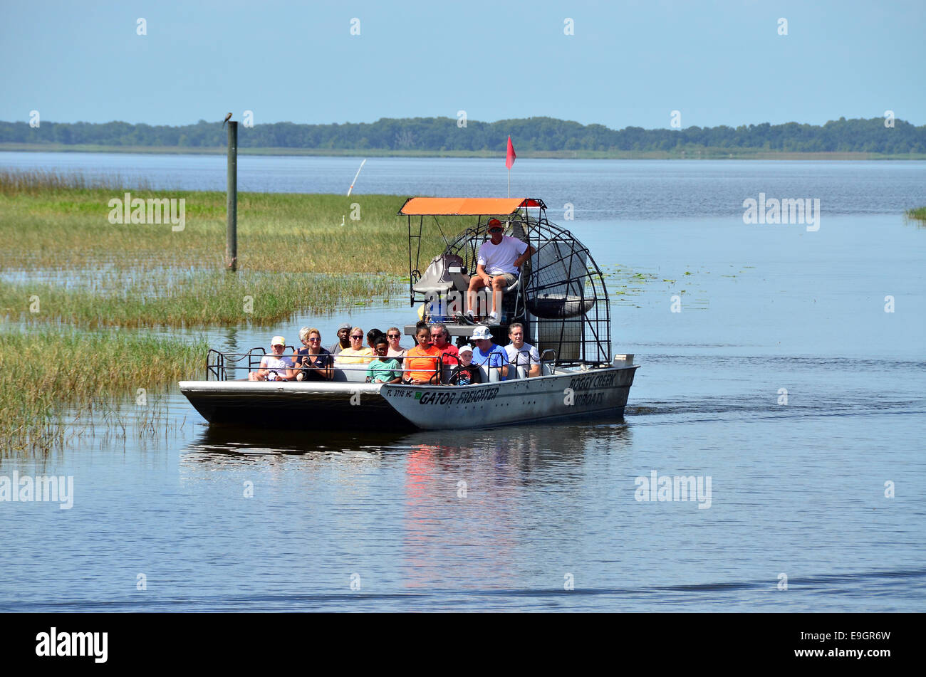 Boggy Creek Airboat Ride on West Lake Toho at Southport Park