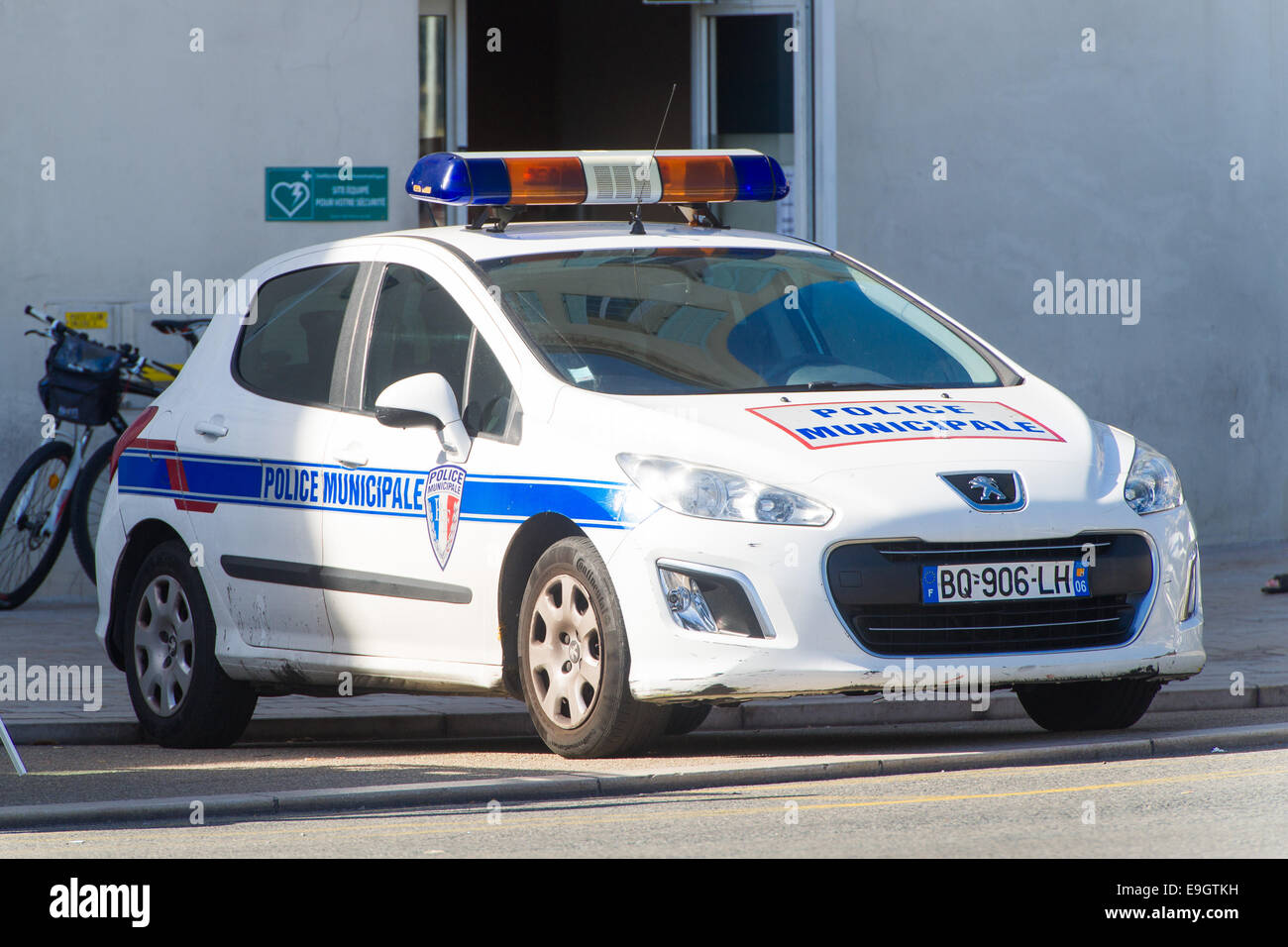 A French Police Car In Cannes France Stock Photo 74743973 Alamy