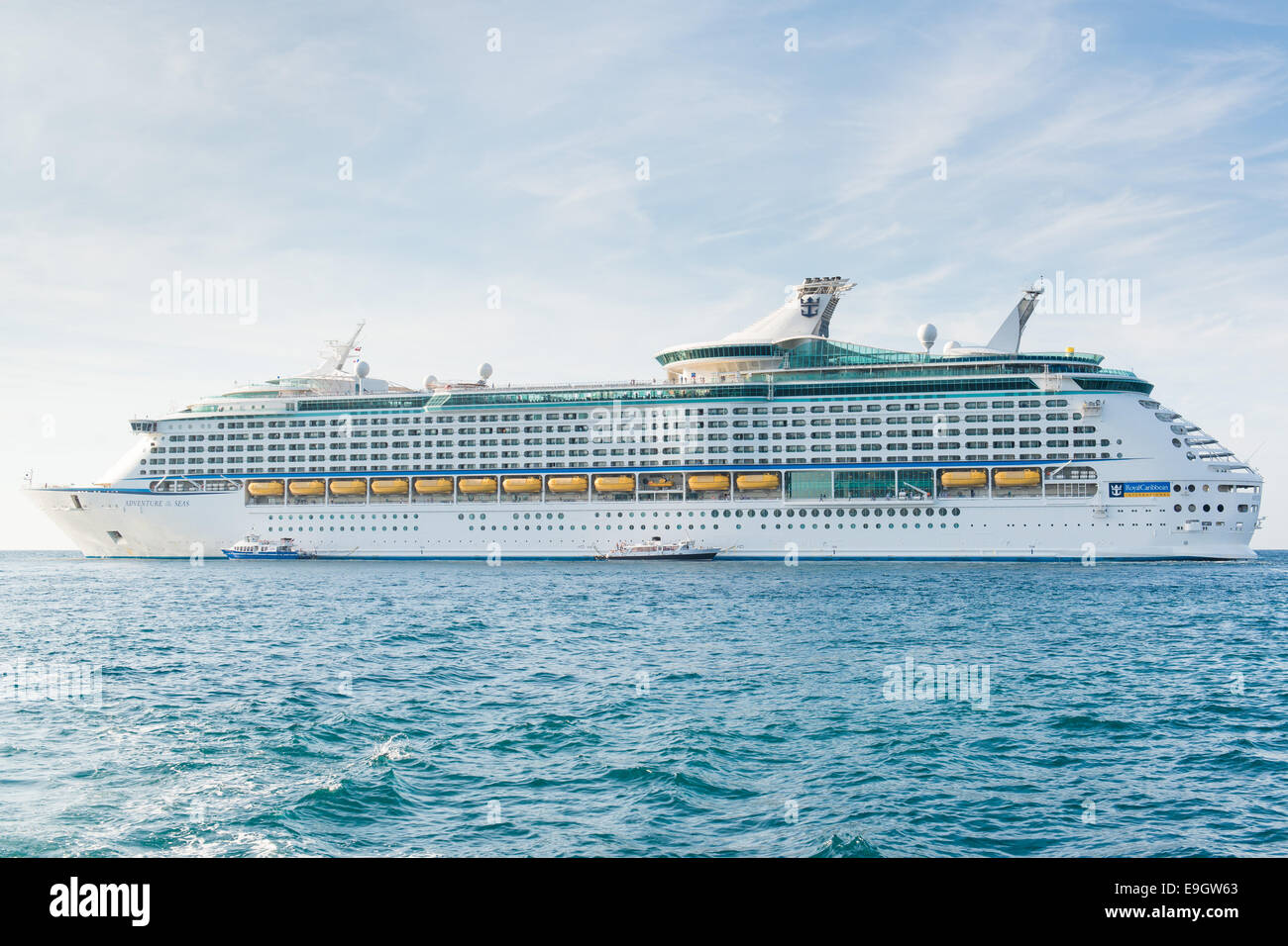 Royal Caribbean International cruise ship Adventure Of The Seas in Cannes, France - Stock Image