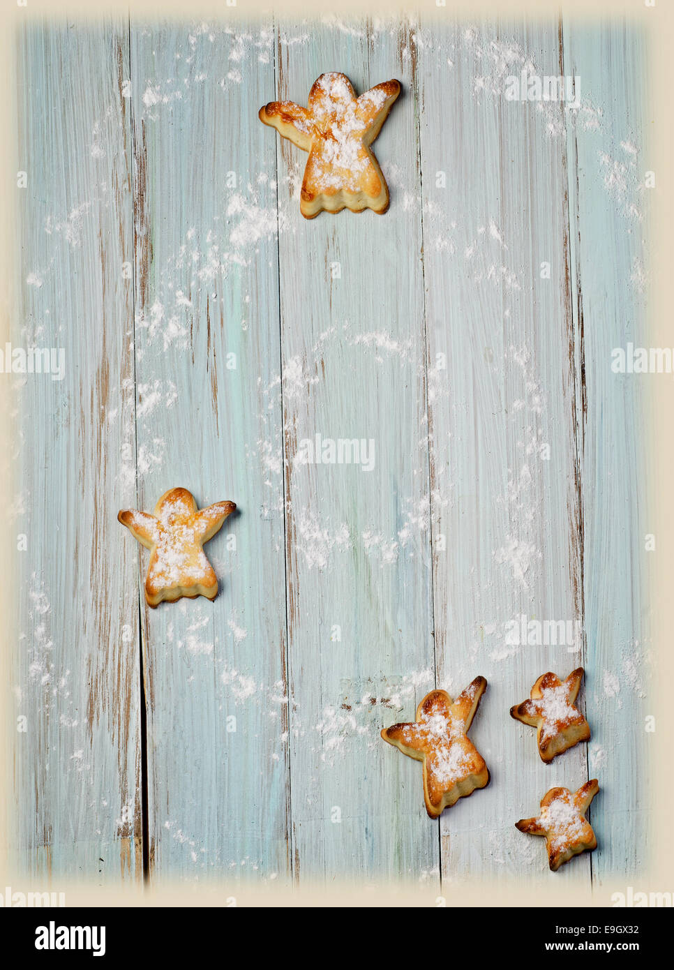 Homemade  cookies on wooden table. Selective focus - Stock Image