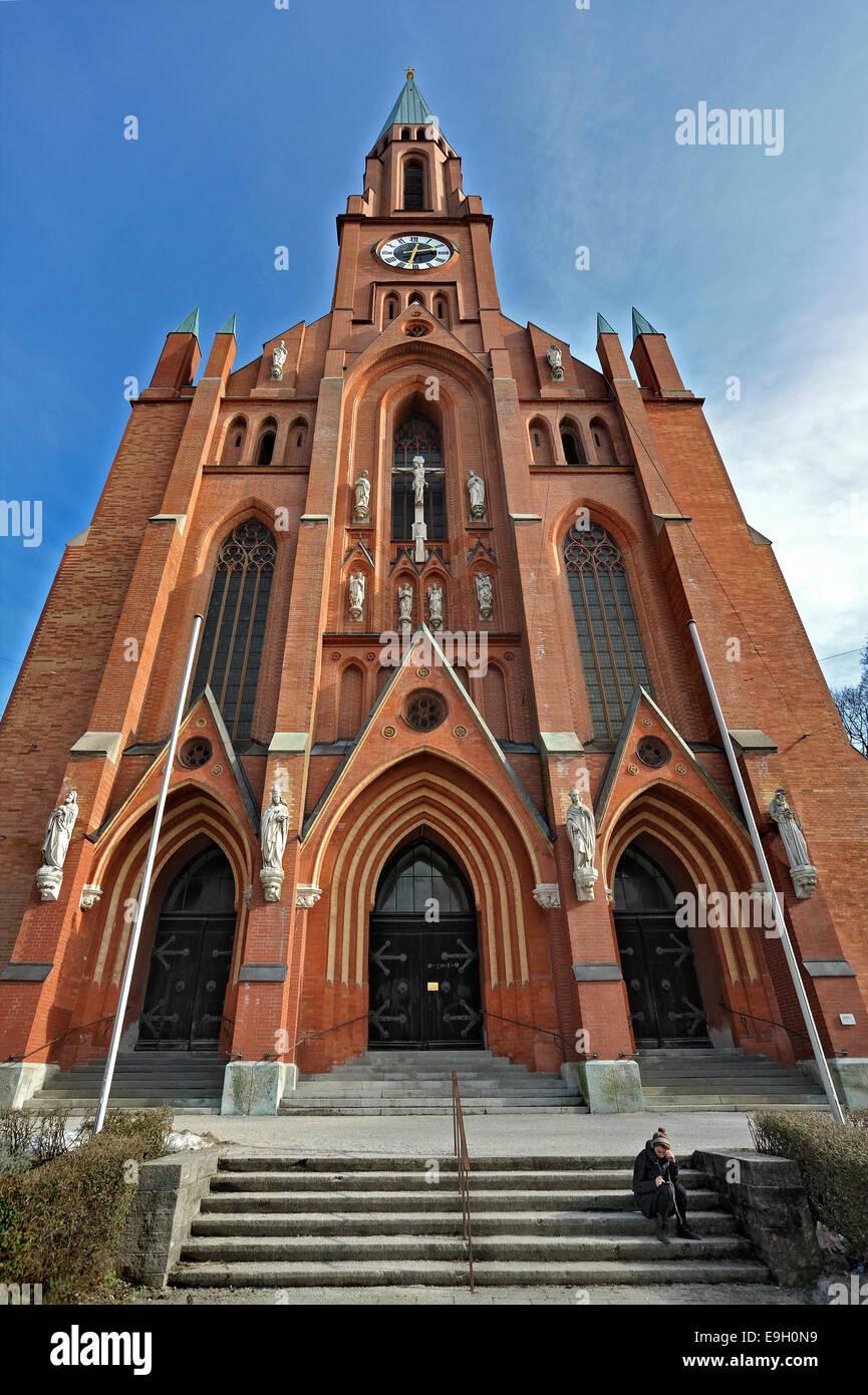 St. John's Church, Au-Haidhausen, Munich, Upper Bavaria, Bavaria, Germany - Stock Image