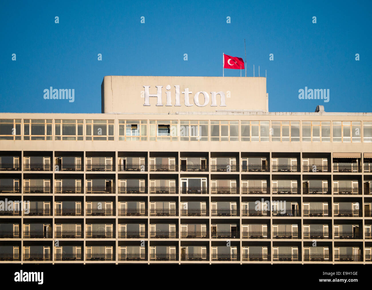 Hilton Hotel in Istanbul - Stock Image