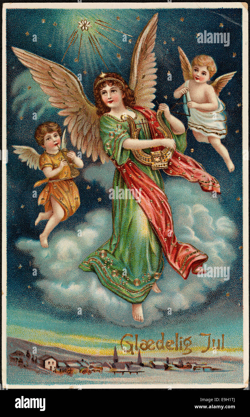 Vintage Christmas Cards Stock Photos & Vintage Christmas Cards Stock ...