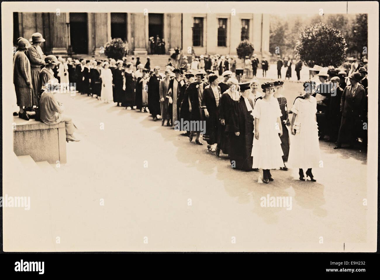 Internasjonale, kvinnelige akademikere 1924 - Stock Image