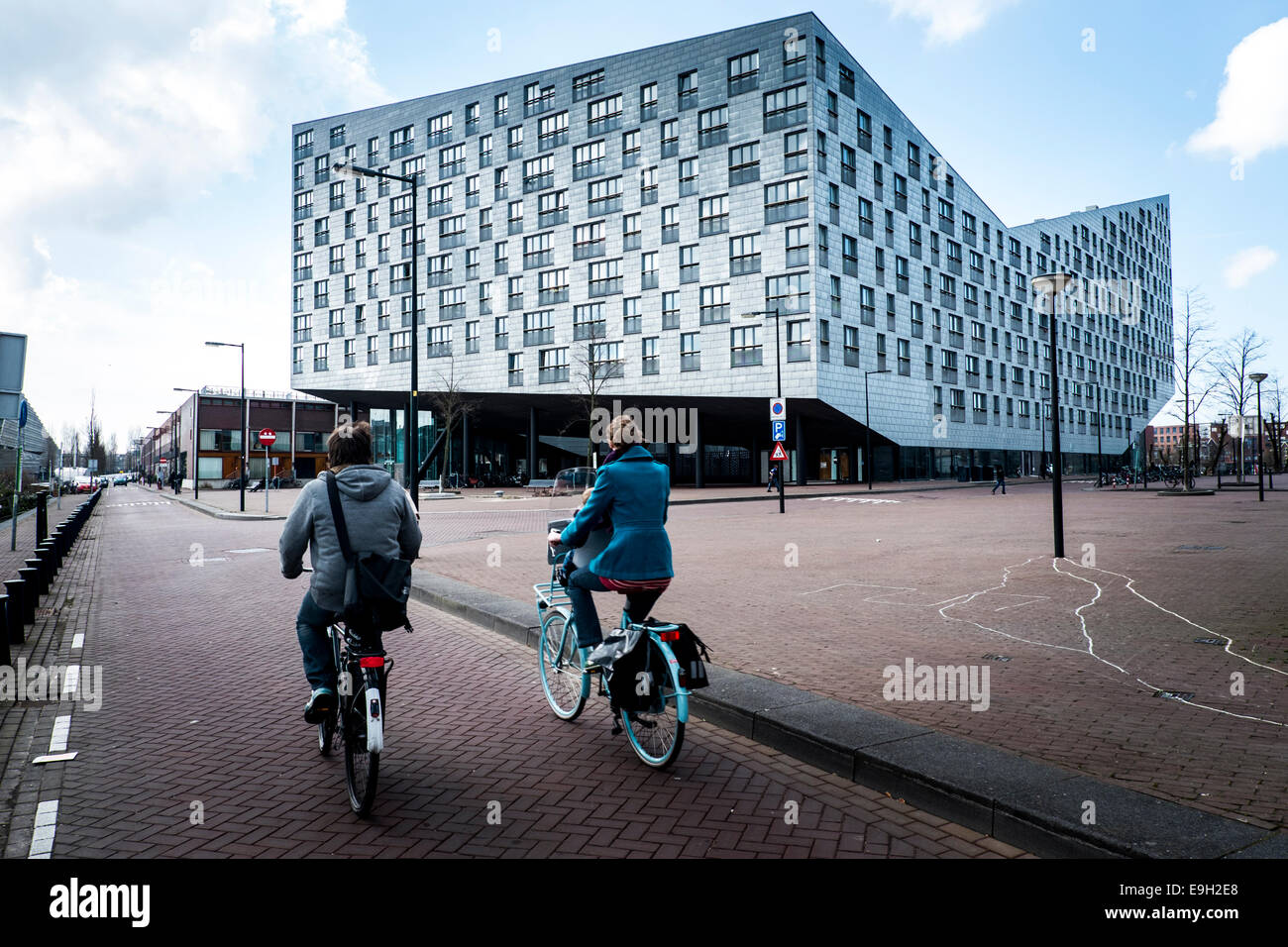 The Whale building, Sporenburg Eiland, Eastern Docklands, Amsterdam, province of North Holland, The Netherlands - Stock Image