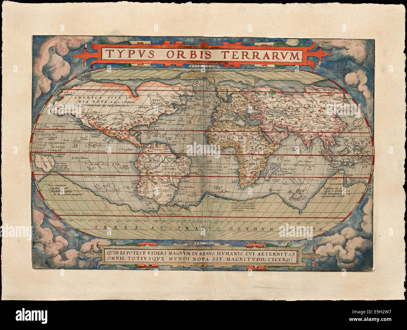 Old world maps stock photos old world maps stock images alamy ortelius verdenskart 1579 stock image gumiabroncs Gallery