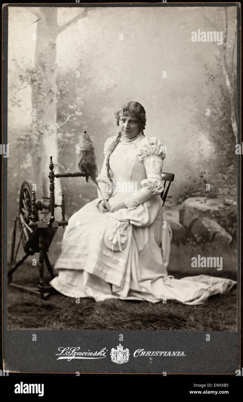 Portrett av Gina Oselio som Marguerite i 'Faust', ca 1890 - Stock Image