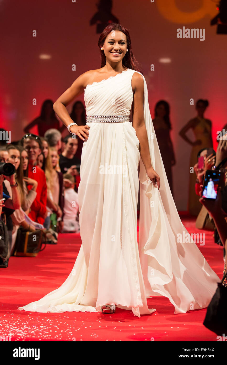 Ursula Renggli, vice Miss Central Switzerland 2013, during the show ...