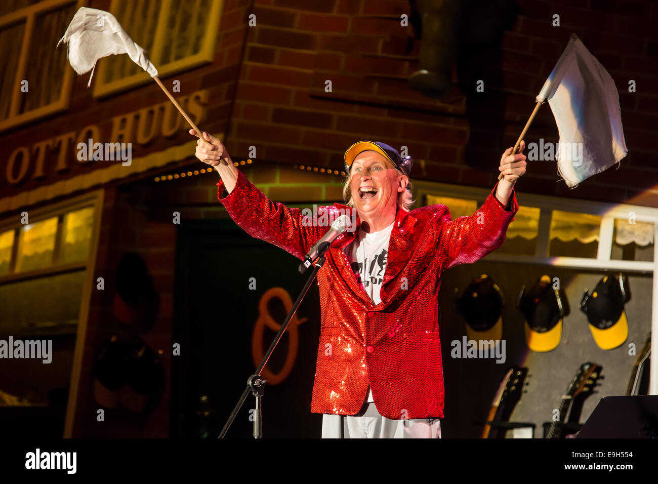 The German comedian Otto Waalkes performing live at the Stadthalle festival hall, Sursee, Canton of Lucerne, Switzerland - Stock Image