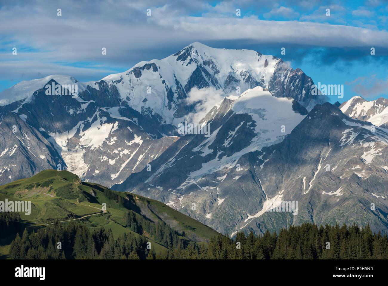 Mont Blanc massif, Hauteluce, Rhône-Alpes, France - Stock Image