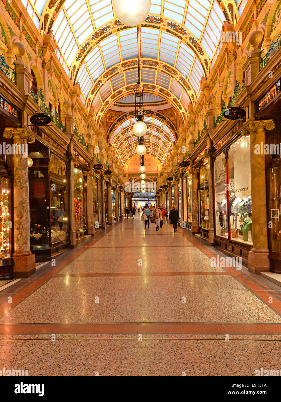 County Arcade, Victoria Quarter, Leeds, West Yorkshire, England, United Kingdom - Stock Image