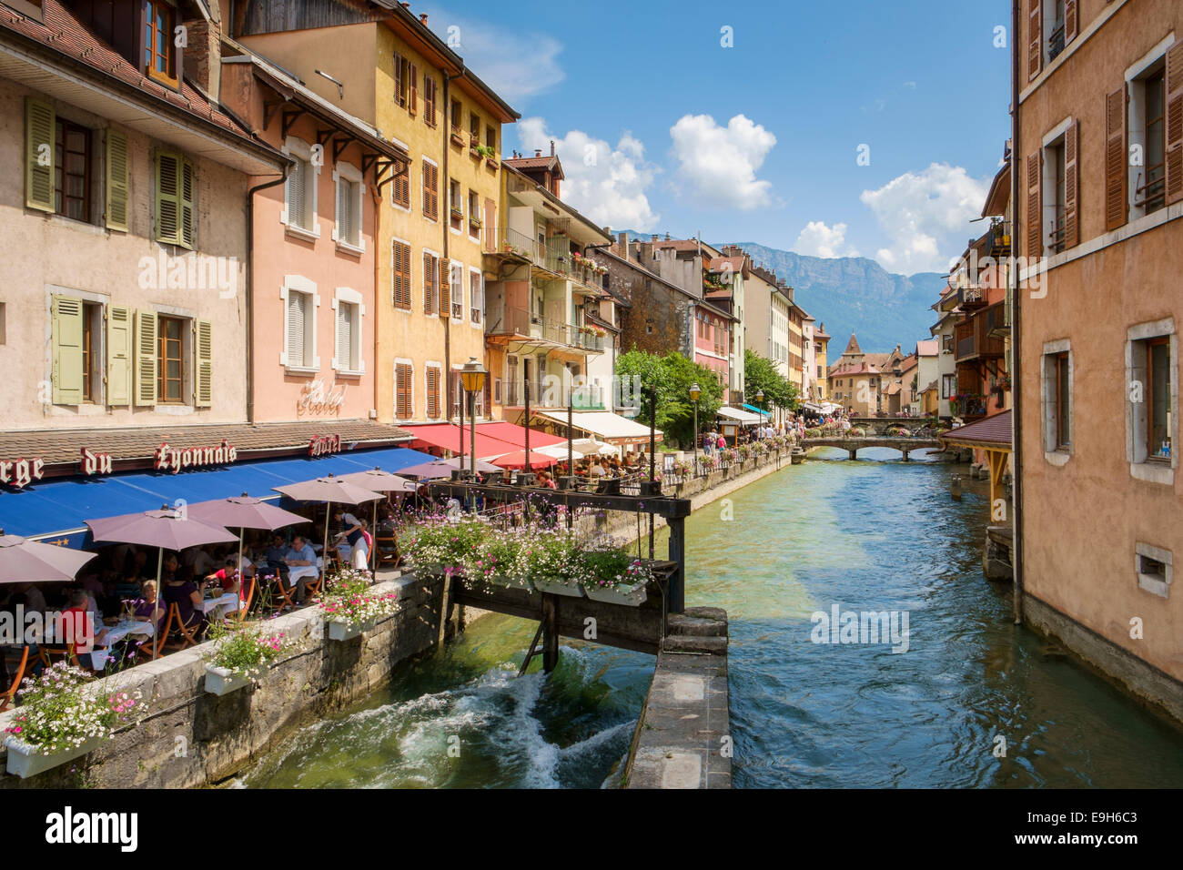 Cafes in Annecy, France, Haute-Savoie, Europe - Stock Image