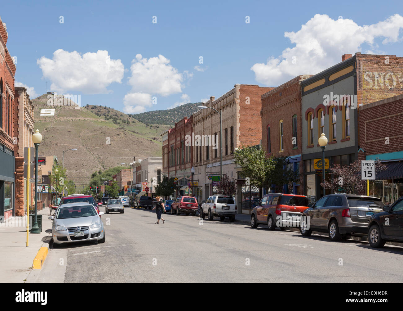 Salida, Colorado, main street USA, with typical shops and stores - Stock Image