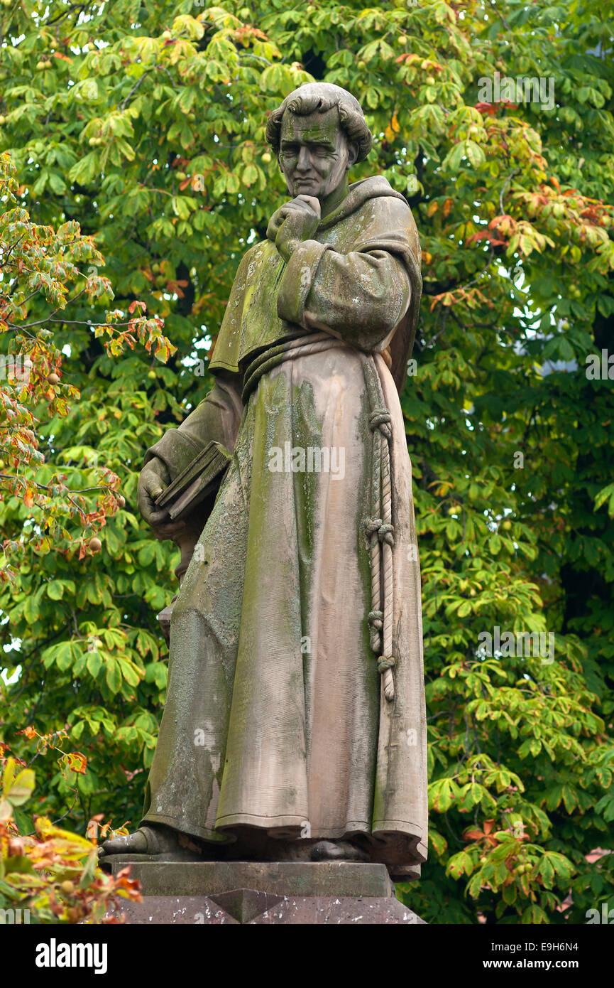 Monument to Berthold Schwarz, alchemist in the 14th century, inventor of gunpowder, Freiburg, Baden-Württemberg, - Stock Image
