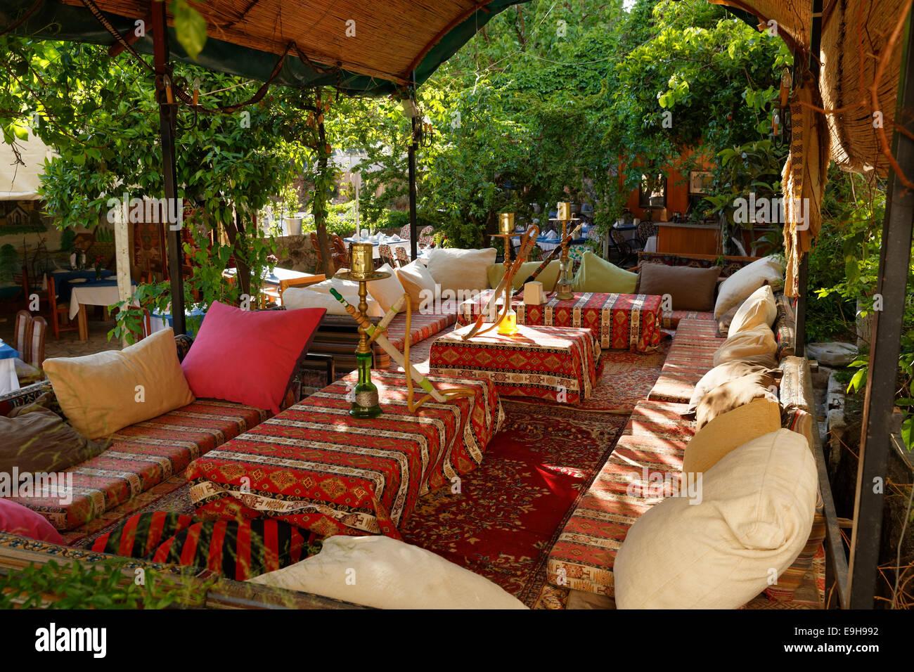 Shisha Cafe, Kaleiçi, Antalya, Antalya Province, Turkey - Stock Image