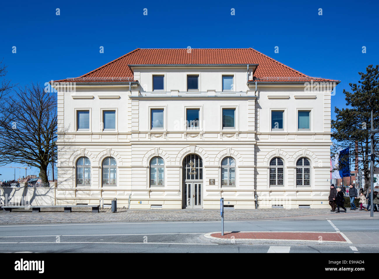 Old Port Authority, Maritime Authority, Bremerhaven, Bremen, Germany - Stock Image