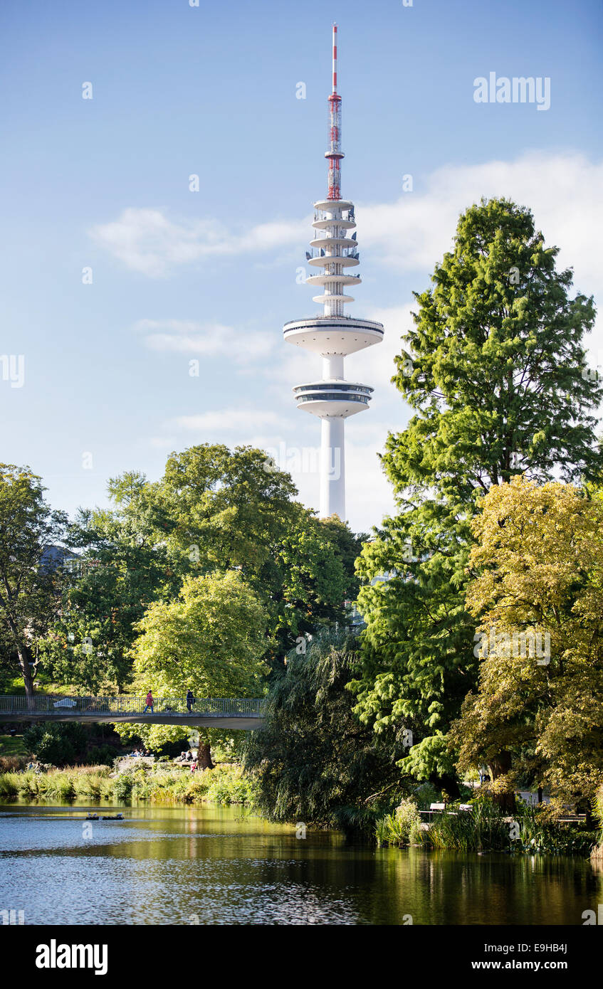 TV Tower Hamburg or Heinrich-Hertz-Turm, Hamburg, Hamburg, Germany - Stock Image