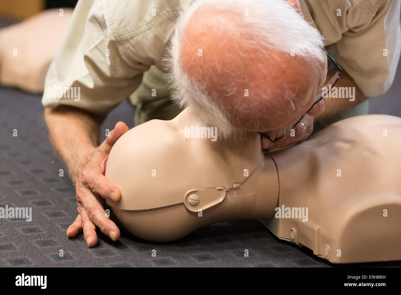 First aid CPR seminar. - Stock Image